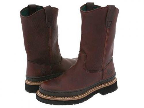 Georgia Boot(ジョージアブーツ) メンズ 男性用 シューズ 靴 ブーツ 安全靴 ワーカーブーツ Georgia Giant Wellington Brown [並行輸入品] B07DNR4DBH 8 EE Wide