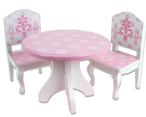 18 Inch Doll Table & Chairs Set, Fits American Girl Doll ...