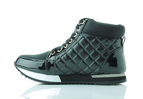 LOVE MOSCHINO Stivaletto Sneaker Nappa Trapunta Nero JA15243G02JO