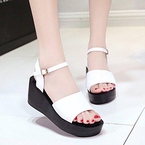 zapatos planos Verano White UE Simples sandalias RUGAI Mujer YpwXaPtq