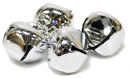 Shiny Metal 30mm Jingle Bells - 144 Silver Bells by Factory Direct Craft