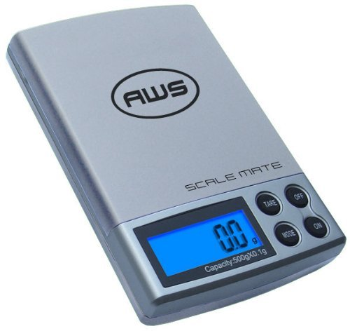 AWS SM-201-SIL 200X.01G American Weigh Scale Mate - Silver by AWS (Image #1)
