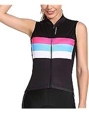 WOSAWE Women's Sleeveless Cycling Jersey Biking Vest Quick Drying Biker Gilet