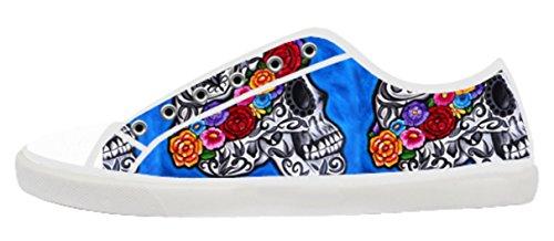 Het Canvas Lage Hoogste Schoenen Van Vrouwen Met Dag Van Het Dode Thema Canvas Vrouwen Shoes07