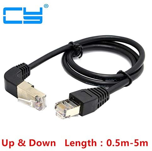 Computer Cables Elbow Up /& Down Angled 90 Degree 8P8C FTP STP UTP Cat 5e LAN Ethernet Network Patch Cord Cable 0.5m//1m//2m//3m//5m Cable Length: 300CM, Color: Down