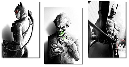 makeuseof Joker Batman Arkham City - 3 Piece Game Silk Poste