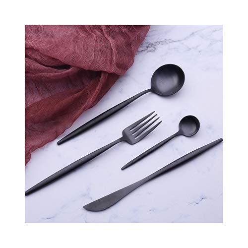 Hot Sale 4 Pcs Tungsten Color Dinnerware Knife 304 Stainless Steel Western Cutlery Kitchen Tableware Set