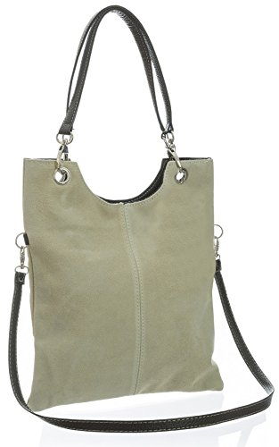 Evening Plain Handbag Clutch Bh161 Suede Big Shop Light Handle Leather Beige Top Bag Shoulder pIwx0ax