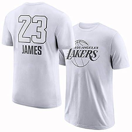 LHKJB Camiseta de Manga Corta de Baloncesto Lakers James ...