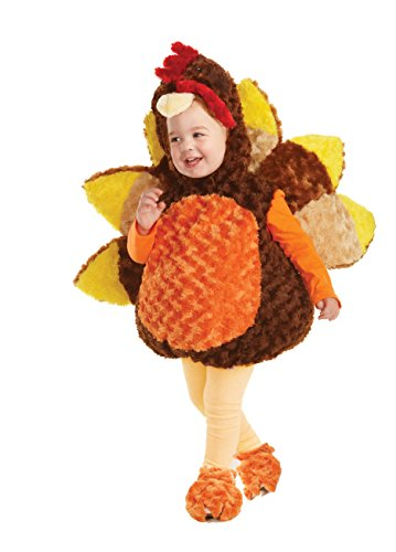 Baby And Daddy Halloween Costumes - Underwraps Baby's Turkey Costume, Brown, Medium