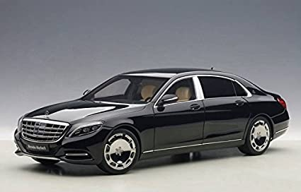 Amazon.com: Mercedes Maybach S Class S600 Black 1/18 by Autoart ...