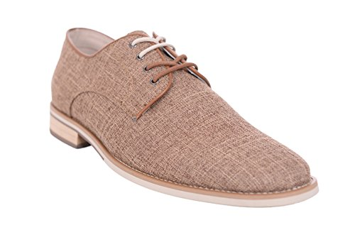 Giorgio Cream Trim Mens up Vicktor Casual Shoes Brutini Brown Chambray Lace with rOr1RYqw