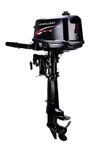 LEADALLWAY T6.0HP Short axis 2 Stroke Water Cooled Outboard Motors Fishing Boat Power Engine