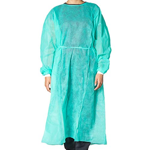 Milliard Disposable Isolation Gown | Universal Size | 10 per Case (Green)