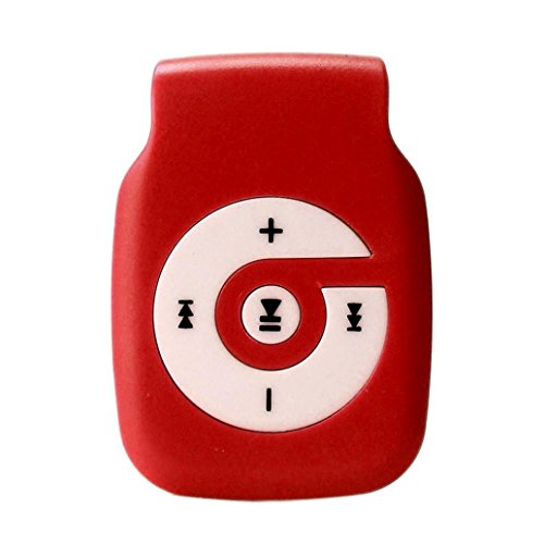 Start Sport Relax Mini Clip Light Protable USB MP3 Player Support Micro SD TF Card Music Media-Red