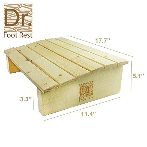 Ergonomic Wood Foot Stool Under Desk Foot Rest With 17 7