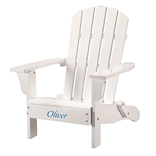 Cheap Personalized Children's Adirondack Chair – Blue Font