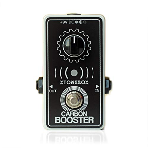 Guitar Boost Booster Pedal. Pure clean professional effect. Xtonebox Carbon Booster. For guitar and bass