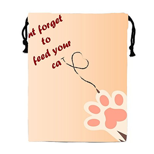 Don't Forget To Feed Your Cat Drawstring Bags Waterproof Party Favors Pouch Tote Bag For Women Men (Favor Feed Bags)
