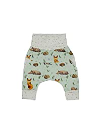 Harem Little Fox - Unisex Organic Cotton Grow with me Pants Baby Boy/Baby Girl