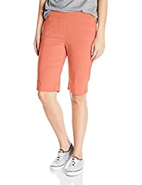 Women's Wide Band Pull-on Solid Walking Short