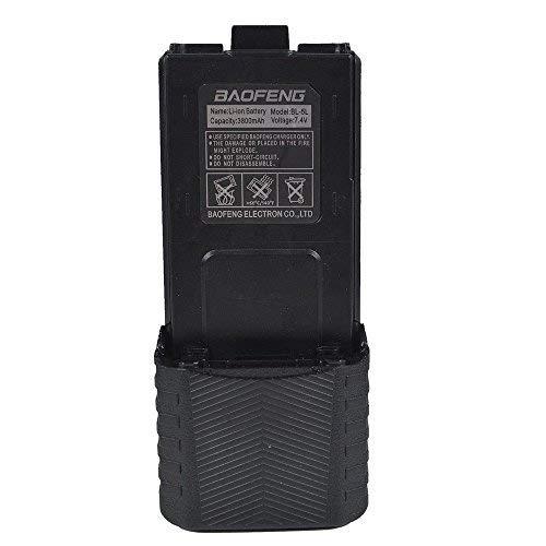 BaoFeng BL-5 Extended 3800mAh 7.4V Li ion Battery for Baofeng UV-5R 5RE F8+ F9 (Black)