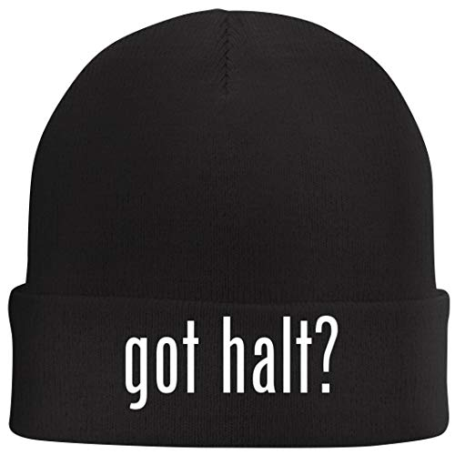 (Tracy Gifts got halt? - Beanie Skull Cap with Fleece Liner, Black)