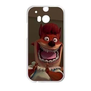 HTC One M8 Phone Case White Chicken Little Foxy Loxy DYW5158004