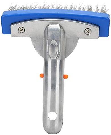 プールブラシ、プールのステンレス鋼のブラシ、スパの池の床の壁の洗浄装置、高い洗浄効率と使いやすい(5インチ)