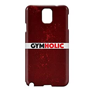 Loud Universe Samsung Galaxy Note 3 3D Wrap Around Gymholic Print Cover - Maroon