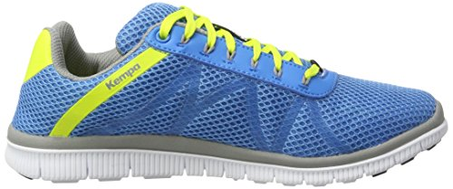 Kempa K-Float, Zapatillas de Balonmano Unisex Adulto Azul (Bleu Cendré/jaune Spring)