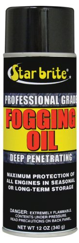 Star brite Professional Grade Fogging Oil - 12 oz Spray – Engine Treatment & Storage 84812 (Star Electric Oil)