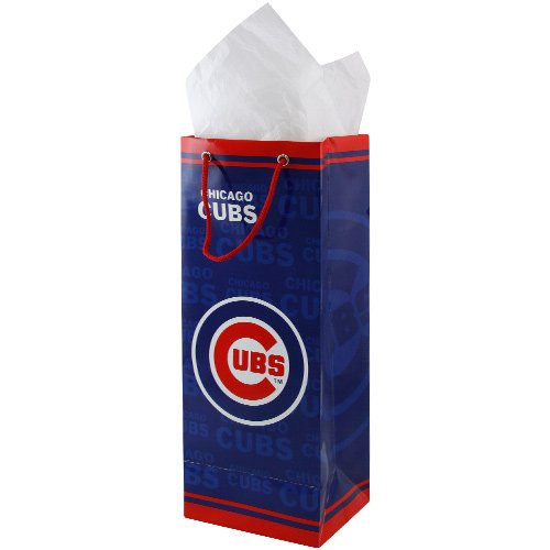 MLB Chicago Cubs Blue Bottle Gift Bag