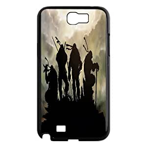 TMNT Design personlized style round dog tag pet tag ,TPU Phone case for SamSung Galaxy Note2 7100,black