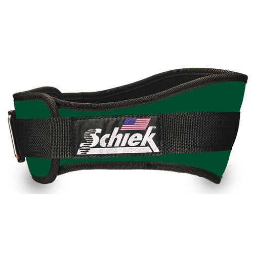 SCHIEK NYLON LIFTING BELT-4 3/4 INCH FOREST GREEN EXTRA SMALL