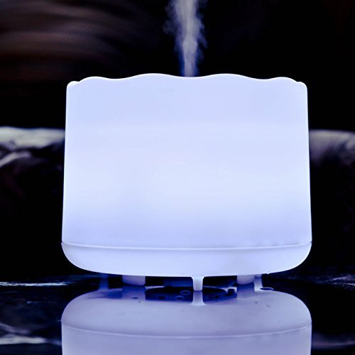 ZAQ Lotus Aroma Essential Oil Diffuser LiteMist Ultrasonic Aromatherapy Humidifier, Color-Changing - 500 ML -  for Office Home Bedroom Baby Room Study Yoga Spa