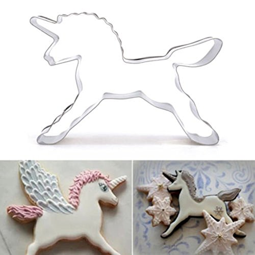 Saasiiyo Unicorn Horse Cookies Cutter Mold Cake Decorating Biscuit Pastry Baking Mould HF332 (Party City Locations Nyc)