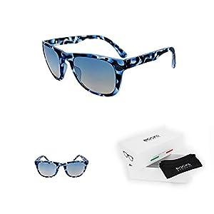 Rocks Eyewear Dolomite Blue Camouflage - Made in Italy - Men & Women Sunglasses - Style Wayfarer