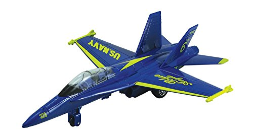 F-18 Hornet Blue Angel - 9 Inch Blue Plane