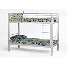 White Bunk Bed - 3ft single metal bunkbed - Can be used by adults - VERY STRONG by Strictly Beds