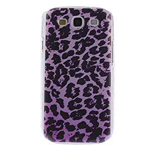 CECT STOCK Purple Caso duro del patrón del leopardo para Samsung Galaxy S3 I9300