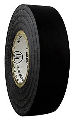 """TradeGear Single Roll Electrical Tape Matte, Colored Durable Adhesive, Waterproof PVC, Rubber Resin, UL Listed, 60' x ¾""""x 0.07"""", Suitable for Use At No More Than 600V and 80°C"""