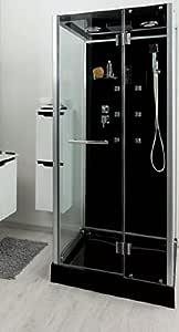 Aqua Plus sachcabytal ytal 90/90 de cabina de ducha Hydro negro ...