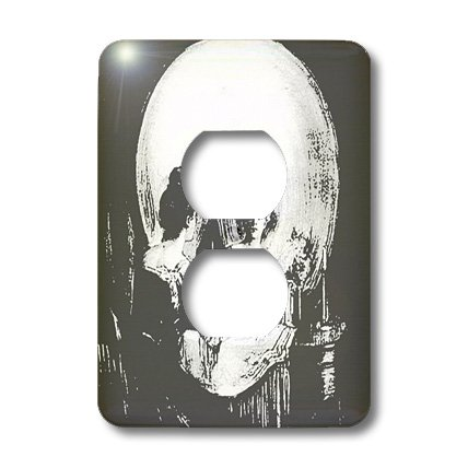 3dRose LLC lsp_46711_6 All Is Vanity  Ghost, Halloween, Optical Illusion, Paranormal, Seasonal, Silhouette, Skeleton  2 Plug Outlet Cover by 3dRose