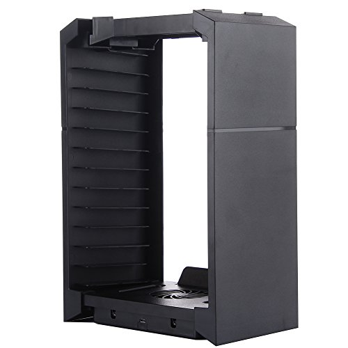 Multifunctional Disk Storage Tower with Controller Charger Dock Station With Micro USB Cable For PS4 Game Controller