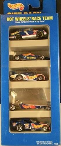 Hot Wheels Race Team Gift Pack 5 Car Set of 1:64 Scale Collectible ...