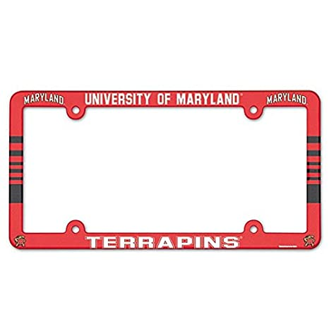 NCAA License Plate with Full Color Frame
