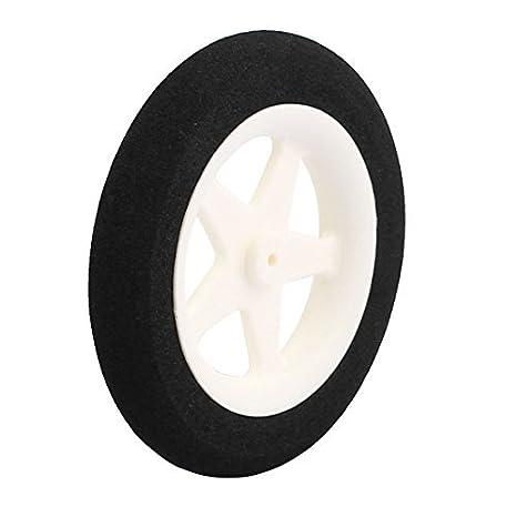 eDealMax 2 mm de Agujeros avión RC Cola neumático de la luz-peso esponja rueda de tamaño métrico D55 H10 - - Amazon.com