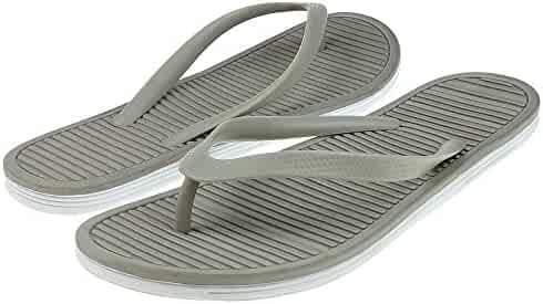 1f71c7eaebb8 Capelli New York opaque jelly thong on a stripe body Ladies Flip Flop