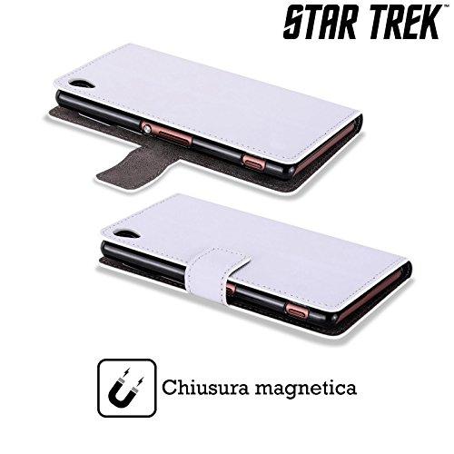 Officiel Star Trek Tricorder Gadgets Étui Coque De Livre En Cuir Pour Sony Xperia Z3